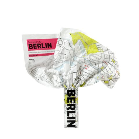 Crumpled City Map-Berlin