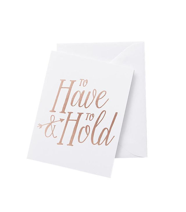 Anthropologie To Have And To Hold Card