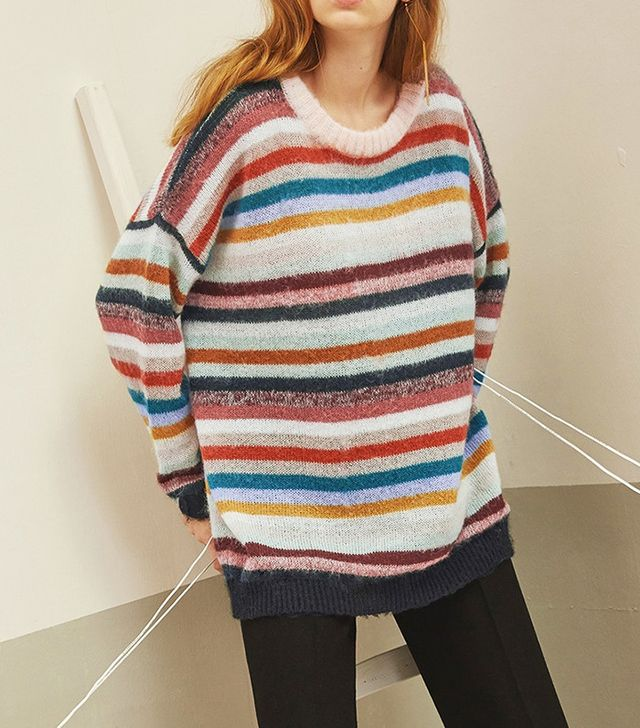 Genuine People Loose Striped Sweater