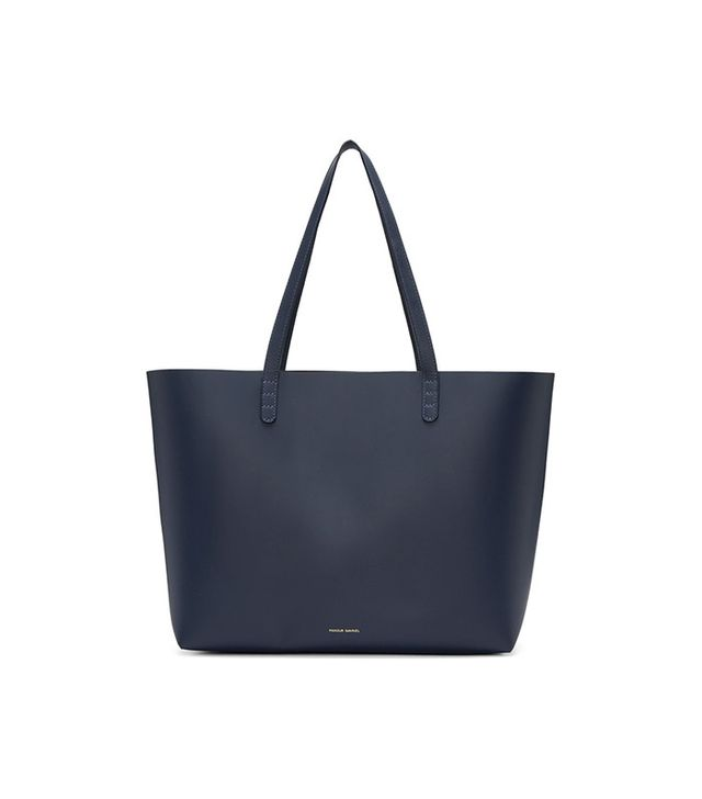 Mansur Gavriel Navy Leather Large Tote
