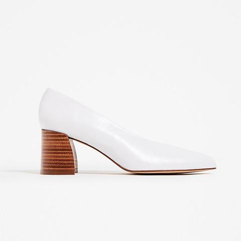 Leather Mid-Heel Shoe