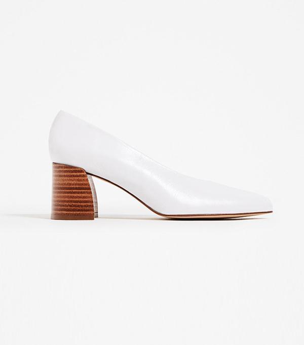 Zara Leather Mid-Heel Shoe