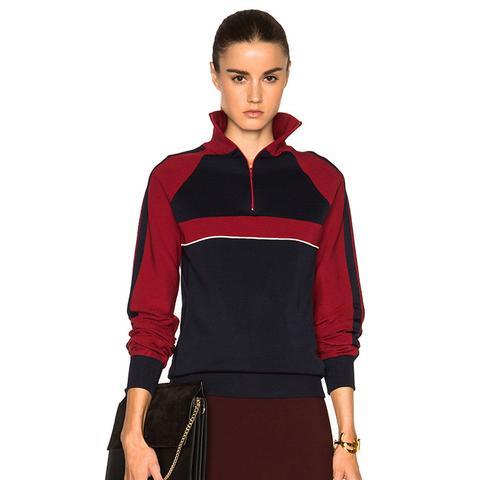 Sporty Silk Knit Track Jacket