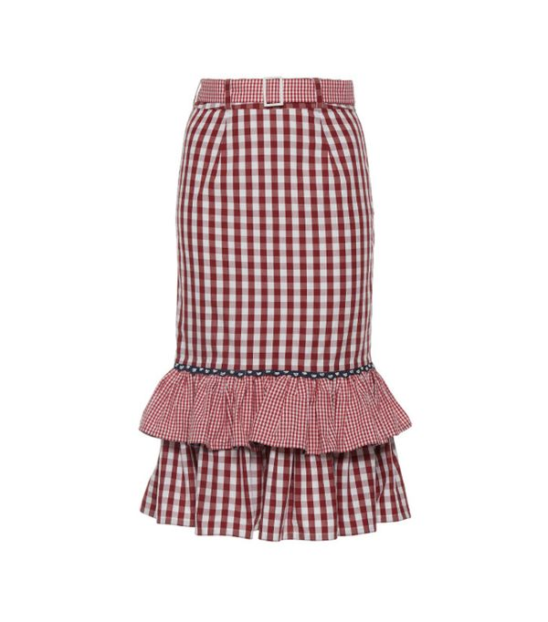 Rahul Mishra Ruffled Pencil Skirt