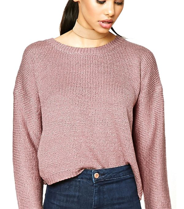 Forever 21 Boxy Ribbed Knit Sweater