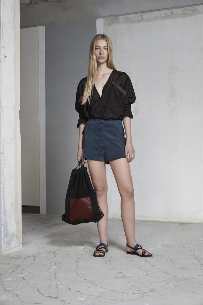 Albus Lumen Francesca Wrap Silk Cotton Shirt