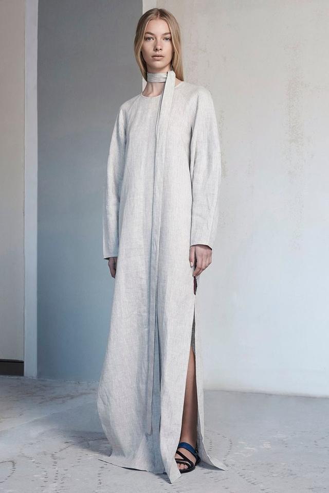 Albus Lumen Fellini Cacoon Sleeve Linen Dress