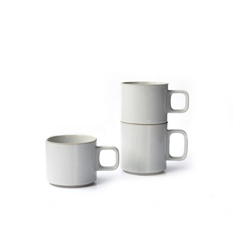 Gloss Grey Japanese Porcelain Mugs