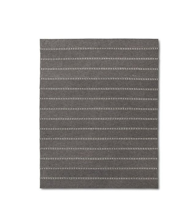 The Industrial Shop Striped Felt Area Rug