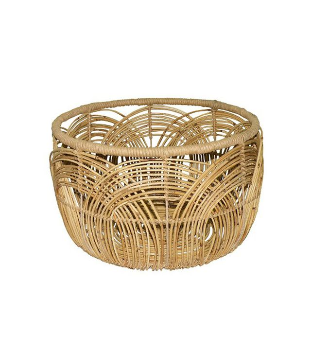 Threshold Woven Round Rattan Basket