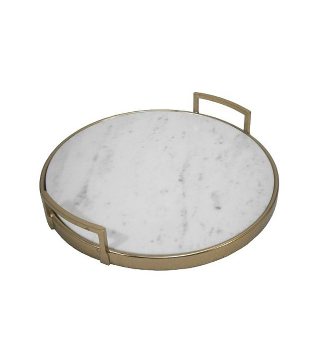 Threshold Gold and Marble Tray