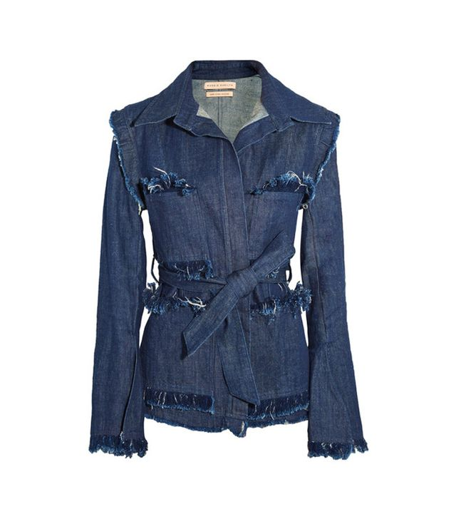 Maggie Marilyn George Frayed Denim Jacket