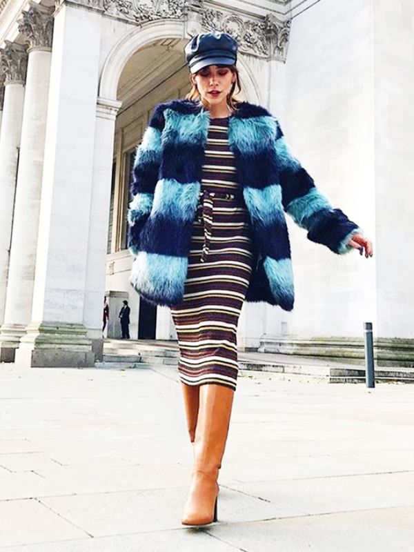 Cold Weather Outfits: a fluffy and cosy faux fur coat