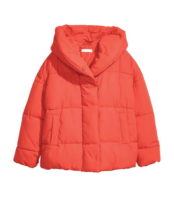 cold weather outfits: H&M Padded Jacket With a Hood