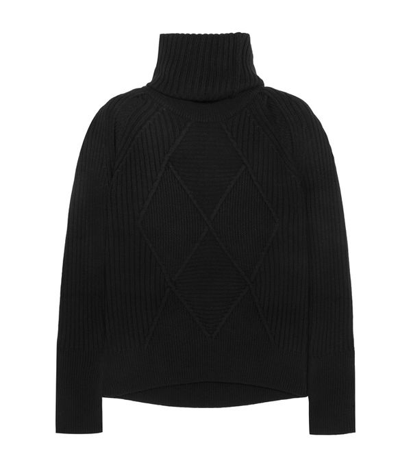 cold weather outfits: Kenzo Convertible Wool Turtleneck Sweater