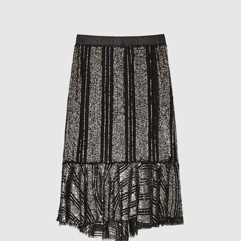 Ruffled Skirt With Sequins