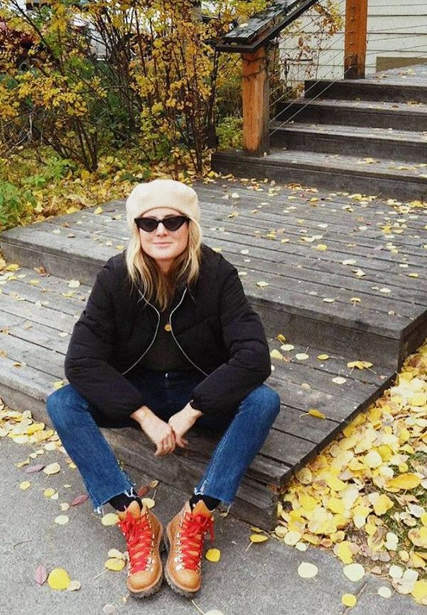 Cold Weather Outfits: lucy williams with walking boots