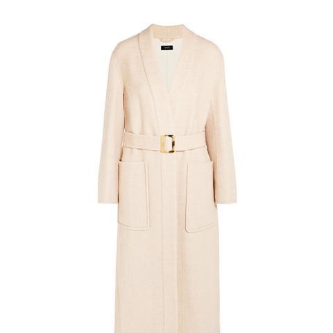 Wool-Blend Twill Coat