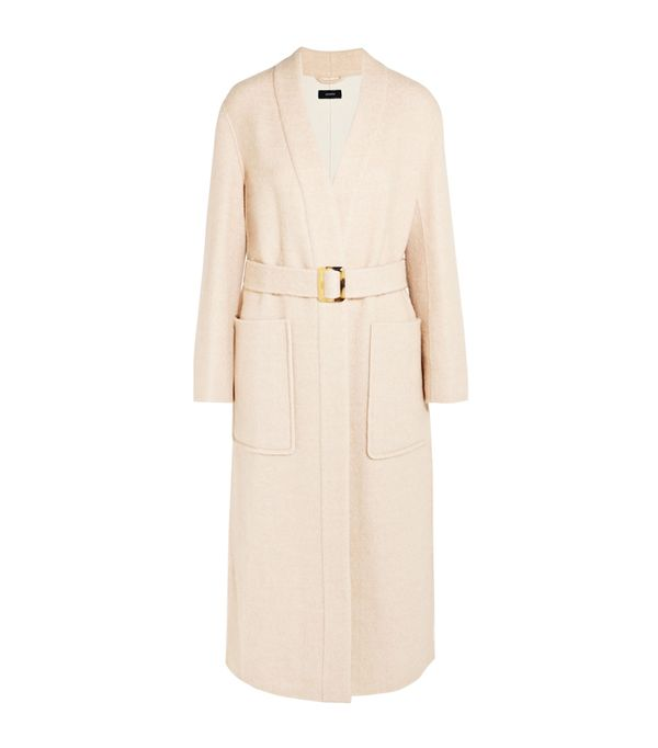 cold weather outfits: Joseph Wool-Blend Twill Coat