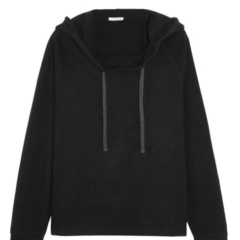 Oversized Brushed Cotton-Blend Hooded Top