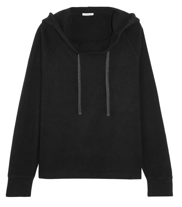 Must-See Spring Street Style Outfits to Bookmark: James Perse Oversized Brushed Cotton-Blend Hooded Top
