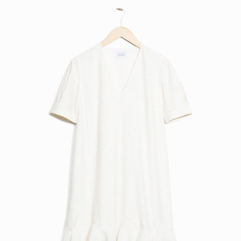 Frill Hem Cotton Dress
