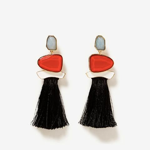 Tasseled Gemstone Earrings