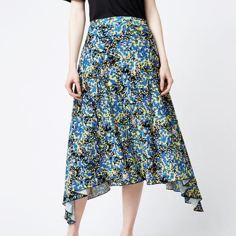 Flower Burst Midi Skirt