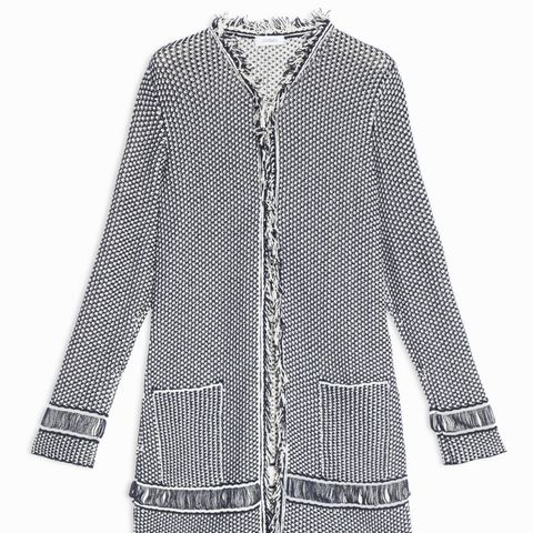 Knit Overcoat With Fringe
