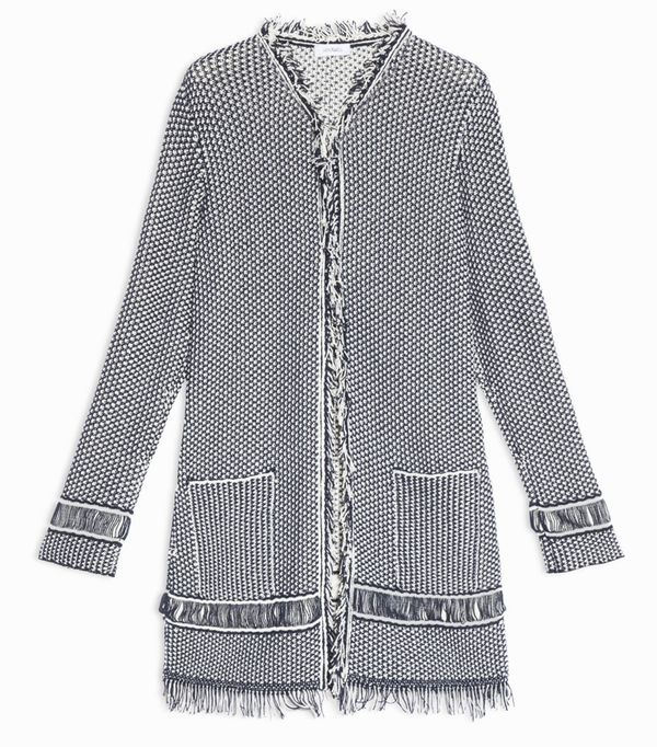Must-See Spring Street Style Outfits to Bookmark: Max & Co Knit Overcoat With Fringe