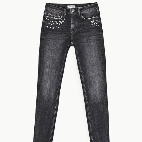 Mid-Rise Jeans With Pearl Jeans