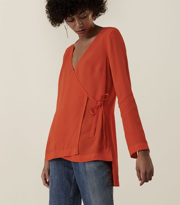 Must-See Spring Street Style Outfits to Bookmark: Finery Chesholm V Front Wrap Top