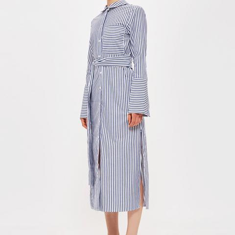 Stripe Shirt Dress by Boutique
