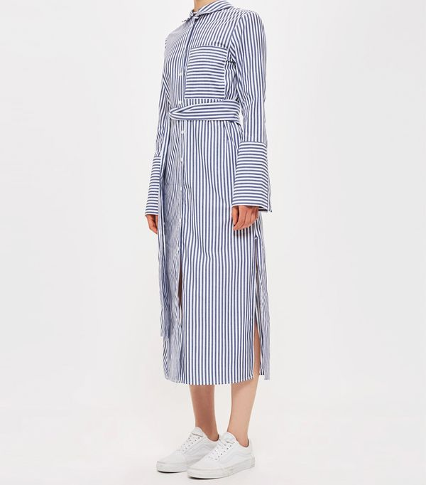 Must-See Spring Street Style Outfits to Bookmark: Topshop Stripe Shirt Dress by Boutique