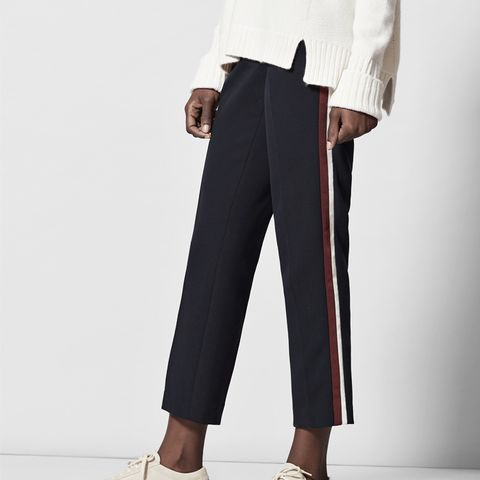 Grosgrain Stripe Slim Crop Pant