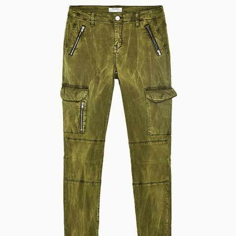 Mid-Rise Cargo Trousers