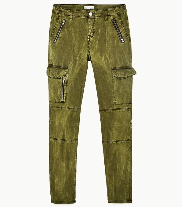 Must-See Spring Street Style Outfits to Bookmark: Zara Mid-Rise Cargo Trousers