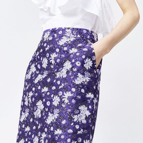 Aster Jacquard Floral Skirt