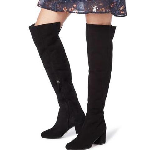 Block Heel Over the Knee Boot