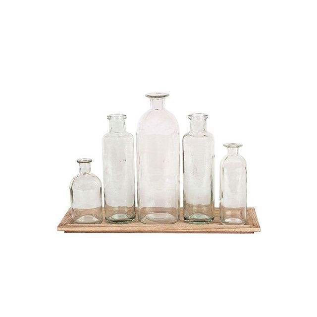 Home Decorators Collection Glass Bottle Vases with Tray