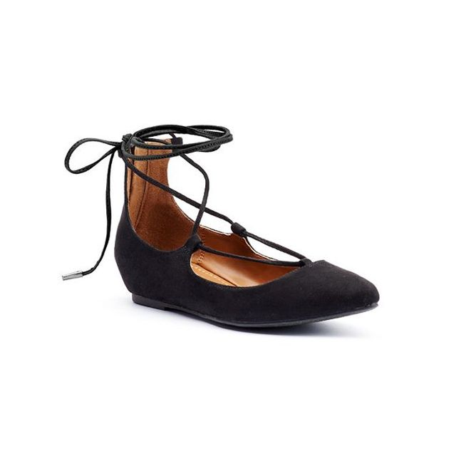 Candie's Women's Lace-Up Ghillie Flats