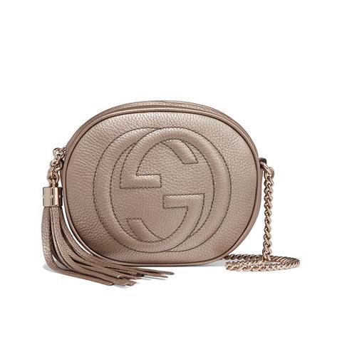 Soho Mini Textured-Leather Shoulder Bag