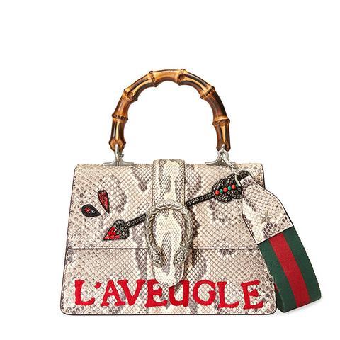 Dionysus Python Top Handle Bag