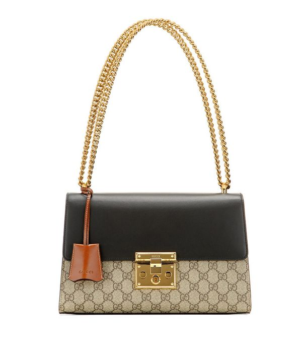Gucci Padlock GG Supreme Medium Leather And Coated Canvas Shoulder Bag