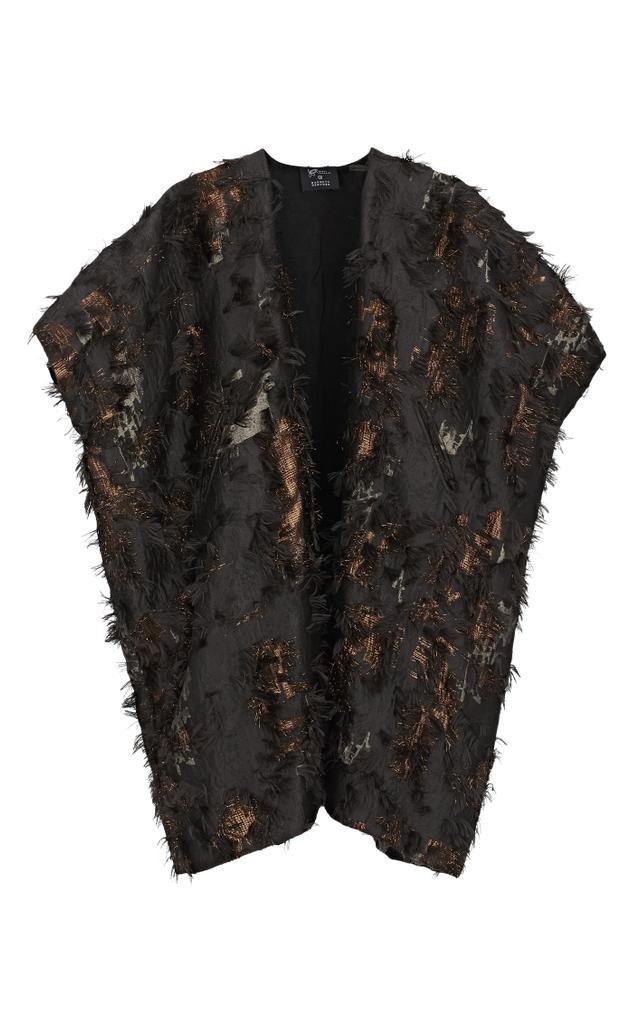 Zero + Mari Cornejo Gaban Fil Coupé Jacquard Coat
