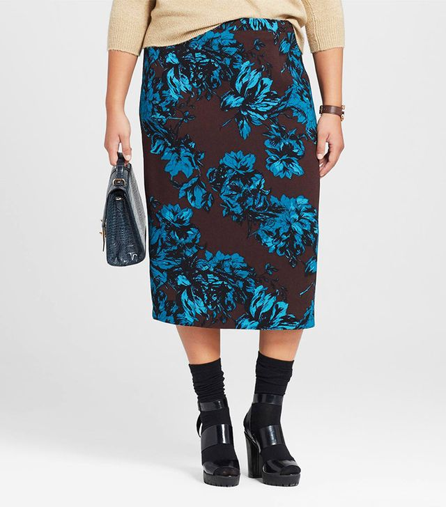 Who What Wear Plus Size Midi Pencil Skirt