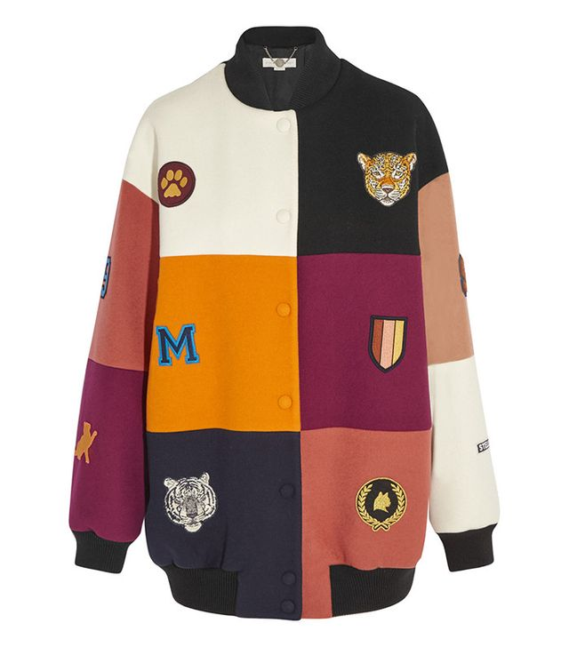 Stella McCartney Embroidered Patchwork Bomber