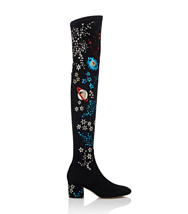 Valentino Astro Couture Suede Over-The-Knee Boots