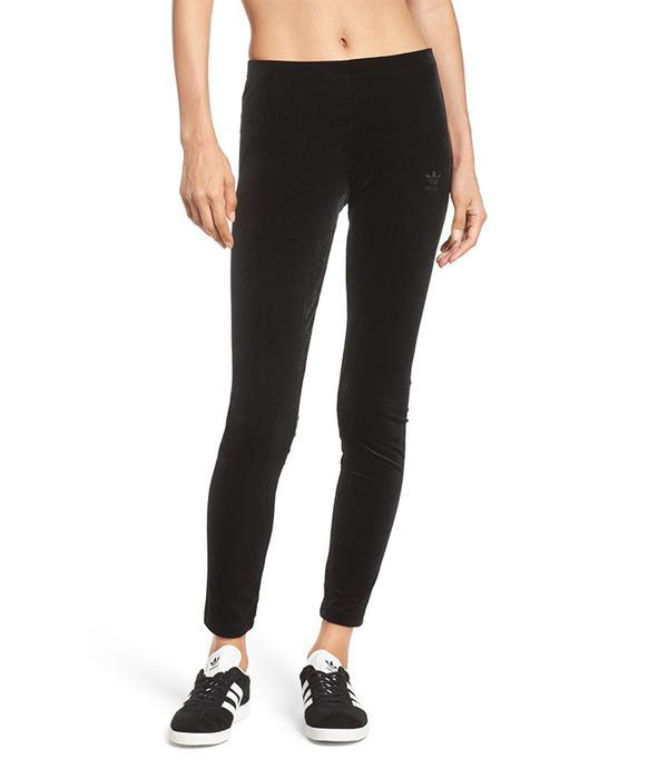 Adidas Originals Velvet Ankle Leggings