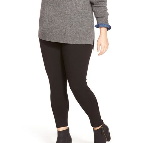 Plus-Size Wide Waistband Leggings